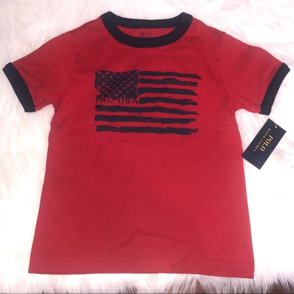 5a81a378 Polo by Ralph Lauren Shirts & Tops | Nwt 4t Polo Flag Shirt | Poshmark